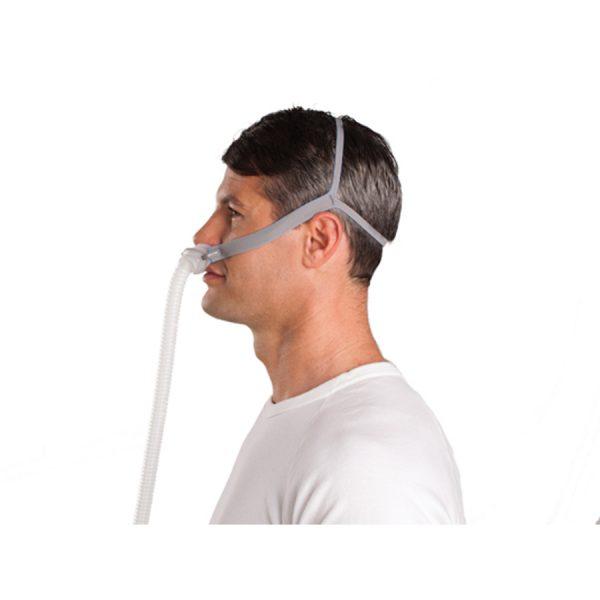Masque narinaire AirFit P10 Resmed - vue de profil - Promédic senc Joliette