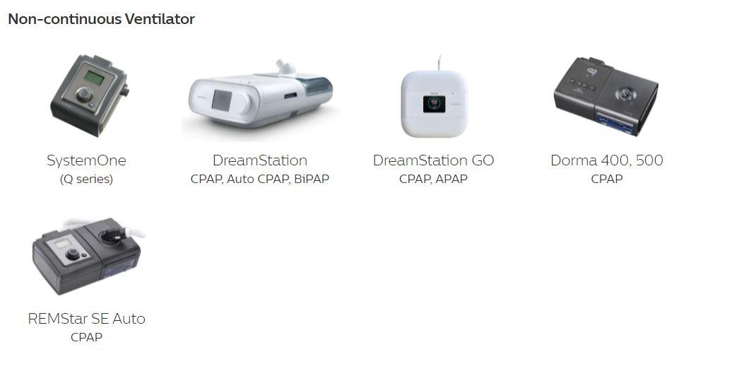 Appareils CPAP ciblés pr le rappel Philips - Pro-Médic inc.